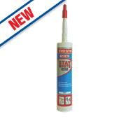 Evo-Stik Trade Stay Sanitary Silicone Sealant White 310ml