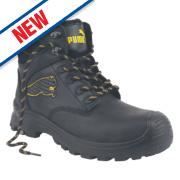 Puma Borneo Mid-Safety Boots Black Size 8