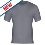 Workforce Short Sleeve Thermal T-Shirt Baselayer Grey X Large 39-41