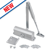 Smith & Locke Contract Overhead Door Closer Silver