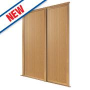 Spacepro 2 Door Panel Sliding Wardrobe Doors Oak 1499 x 2260mm