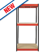 RB Boss Powder-Coated Boltless Freestanding Shelving 3-Tier