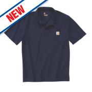 Carhartt K570 Work Pocket Polo Shirt Navy Large