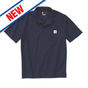 "Carhartt K570 Work Pocket Polo Shirt Navy Large "" Chest"