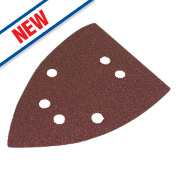 Flexovit Corner Sanding Triangles Punched 145mm 60 Grit Pack of 6