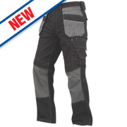 Lee Cooper Holster Trousers Black/Grey 30