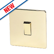 Crabtree 10AX Intermediate Switch Pol Brass Flat Plate