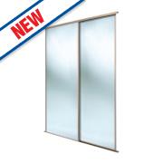 Spacepro 2 Door Framed Sliding Wardrobe Mirror Doors Beech 1803 x 2260mm
