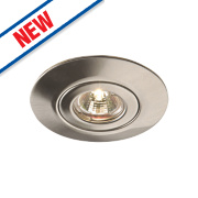 Saxby Converse Downlight Fixed GU10 Satin Nickel 140mm 240V