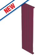 Moretti Modena Single Panel Vertical Designer Radiator Claret 1800x433mm