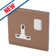 Retrotouch Simplicity 13A 1-Gang DP Switched Socket Bronze