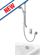 Aqualisa Visage Gravity Pumped Flexible Thermostatic Mixer Shower with Bath Filler & Digital Control Chrome
