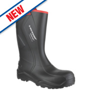 Dunlop Purofort+ C762043 Safety Wellingtons Black Size 10