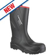 Dunlop Purofort+ C762043 Safety Wellingtons Black Size 10