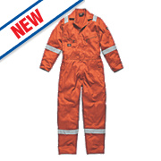"Dickies WD2279 Zip Front Coverall Orange Small 36-38"" Chest "" L"
