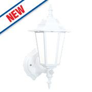 Saxby Evesham 7W Matt White PIR Lantern 500Lm