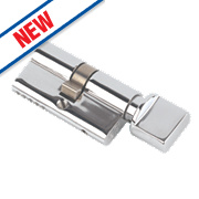 Eurospec Keyed Alike Euro Cylinder Thumbturn Lock 40-40 (80mm) Polished Chrome