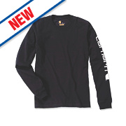 "Carhartt EK231 Long Sleeved T-Shirt Black X Large "" Chest"