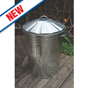 Apollo Galvanised Steel Dustbin