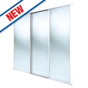 Spacepro 3 Door Framed Sliding Mirror Wardrobe Doors 2692 x 2260mm