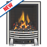Focal Point Elysee Chrome Rotary Control Gas Inset Full Depth Fire