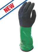 Skytec Xenon Cut 5 Gauntlets Green/Black Large