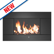 Focal Point Evoke Black Remote Control Electric Wall-Mounted Fire