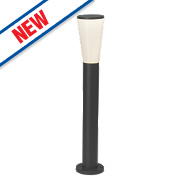 Orco Gloss Charcoal LED Post Light 590Lm 9W