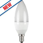 LAP Candle Coated LED Lamp White SES 6W