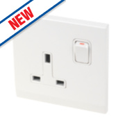 Retrotouch Simplicity 13A 1-Gang DP Switched Socket White