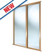 Spacepro 2 Door Framed Sliding Wardrobe Mirror Doors 1803 x 2260mm