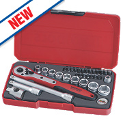 "Teng T3834 3/8"" Socket Set 34 Pieces"