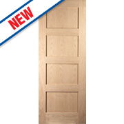 Jeld-Wen Shaker 4-Panel Interior Door Oak Veneer 2032 x 813mm