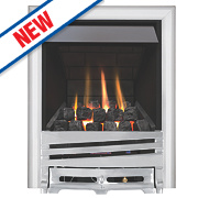 Focal Point Horizon Chrome Rotary Control Gas Inset Multiflue Fire