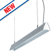 Luceco Suspended LED Pendant Light Anodised Aluminium 1190mm 18.5W