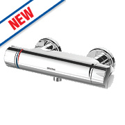 Bristan Opac Exposed Thermostatic Bar Mixer Shower Valve Fixed Chrome