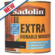 Sadolin Extra Durable Woodstain Translucent Semi-Gloss Ebony 1Ltr