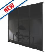 Spacepro 3 Door Framed Glass Sliding Wardrobe Doors Black 2692 x 2260mm