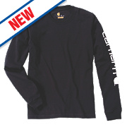 "Carhartt EK231 Long Sleeved T-Shirt Black Large "" Chest"