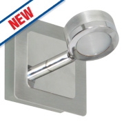 Ranex LED Bathroom Wall Light Brushed Stainless Steel 3W