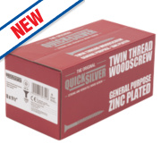 Quicksilver Zinc-Plated Woodscrews Double Countersunk 8ga x 1½