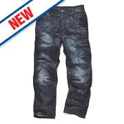 """Scruffs Trade Denim Jeans Blue 40"""" W 32"""" L"""