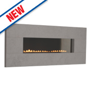 Focal Point Vesuvius Limestone Rotary Control Gas Wall-Hung Flueless Fire