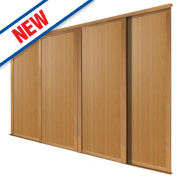 Spacepro 4 Door Panel Sliding Wardrobe Doors Oak 2998 x 2260mm