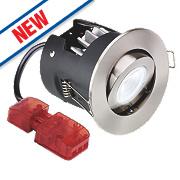 Aurora Fire Rated Adjustable LED Downlight IP20 Satin Nickel 10W