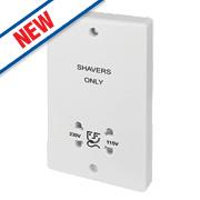 Schneider Electric Ultimate Dual Voltage Shaver Socket 115 / 230V White