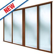 Spacepro 4 Door Framed Sliding Wardrobe Mirror Doors 2998 x 2260mm