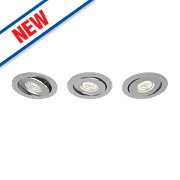 Philips Adjustable LED Downlights 440Lm Aluminium 4.5W 230V Pack of 3