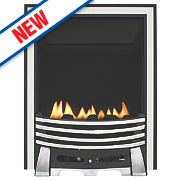 Focal Point Elysee Chrome Rotary Control Gas Inset Flueless Fire