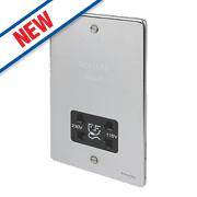 Schneider Dual Voltage Shaver Socket 115 / 230V Pol. Chr w/ Blk Insert